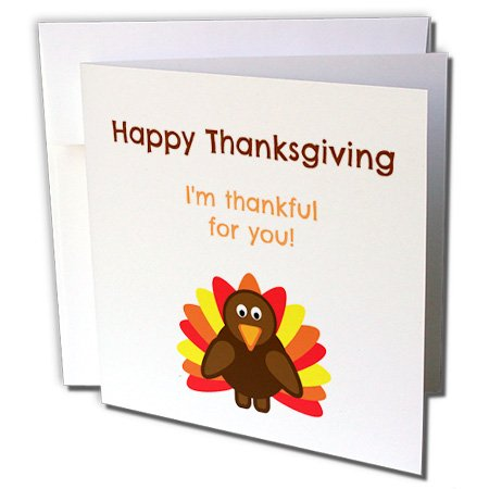 m thankful for you - Greeting Cards, 6 x 6 inches, set of 12 (gc_221877_2) ()