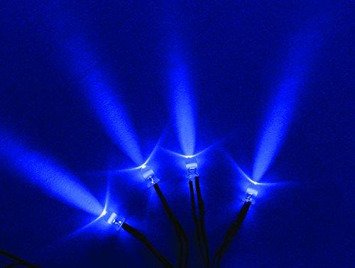 Видение X Хиль-SLB Голубой Один светодиод С 3 шнур педали - Комплект из 4