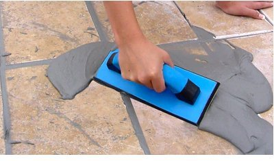 TROXELL USA 12'' x 4'' Gum Rubber Grout Float with Soft Grip Handle