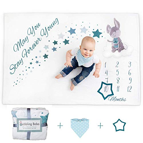 Baby Monthly Milestone Blanket for Boys and Girls | 60