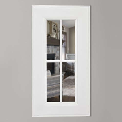 Timber Vaults, Inc Homestead Gun Concealment Mirror, Small in White Finish with RFID Lock