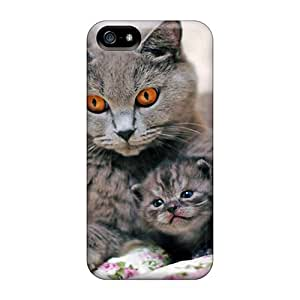 Snap-on Case Designed For Iphone 5/5s- Gray Cat