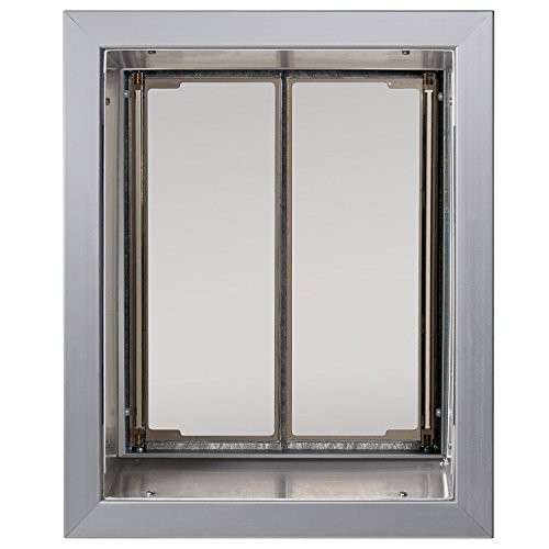 PlexiDor Performance Pet Doors Large Silver Wall Mount