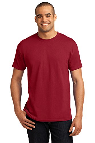 Hanes Adult ComfortBlend EcoSmart T-Shirt, Deep Red, 3X ( Pack of 3 -