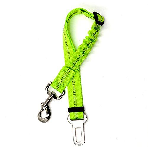 SG Automotive pet restraint beltbelt elastic bungee strap, nylon fabric, reflective, adjustable pet seat belt (Green) Review