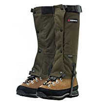Kayahan Gaiters by Bushbuck - Silent, Tough, Water Repellent - Keep Water and Debris Out, Protect Against Sharp Rocks, Bush - For Backpacking, Hunting and Climbing