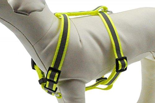 Reflektierendes Hundegeschirr Geschirr Brustgeschirr soft nylon mit unterschiedlichen Größen B Ware (GA-1008(L), gelb)