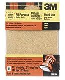3m Clip-On Sandpaper Sheets 100 Grit Medium 4-1/2 '' X 5-1/2 '' Oxide Wood