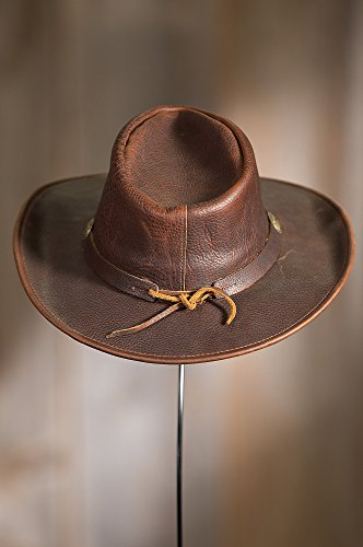 Overland Sheepskin Co Raging Bull Leather Cowboy Hat by Overland Sheepskin Co (Image #5)