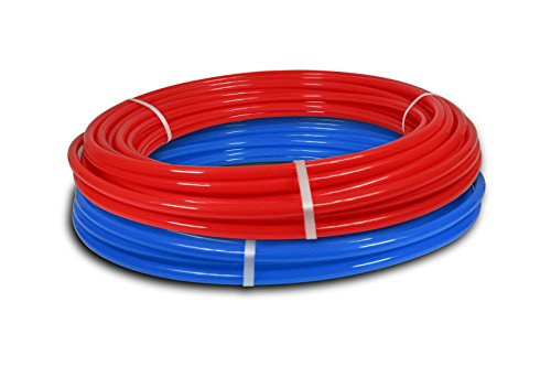 2 rolls 1/2'' x 100ft PEX Tubing for Potable Water Combo by Builder Zone