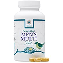 Best Nest Men's Multi | Methylfolate, Methylcobalamin (B12), Multivitamins, Probiotics, Made with 100% Natural Whole Food Organic Blend, Once Daily Multivitamin Supplement, 60 Tablets…