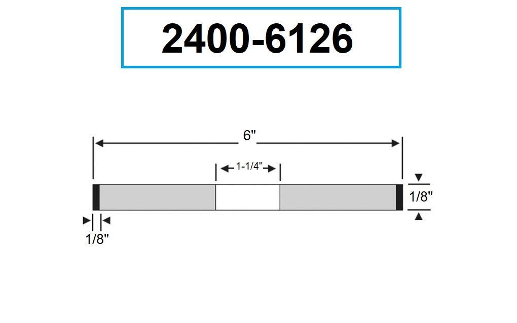 HHIP 2400-7501 7 x 1//2 x 1-1//4 Inch D1A1 CBN Wheel