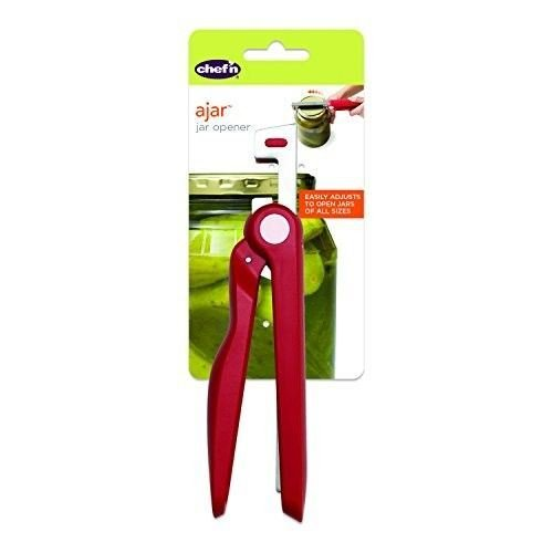 Chef'n Ajar Jar Opener - Adjustable For Different Sized Lids (Pack of 2)