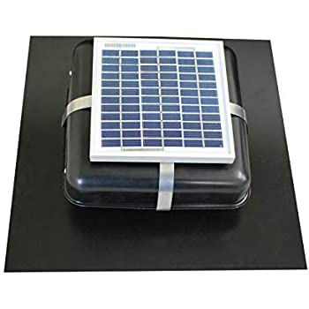 Solar Roof Vent - Solar Attic Fan - Solar RoofBlaster with Black Vent