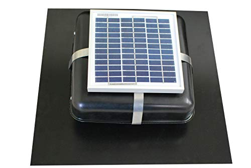 (Solar Roof Vent - Solar Attic Fan - Solar RoofBlaster with Black Vent)
