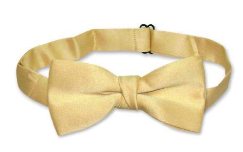 - Covona BOY'S BOW TIE Solid GOLD Color BowTie