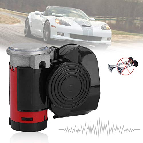 - Dual Tone Trumpet Ultra Loud Electric Air Horn Compressor Kit for 12V Cars Vehic
