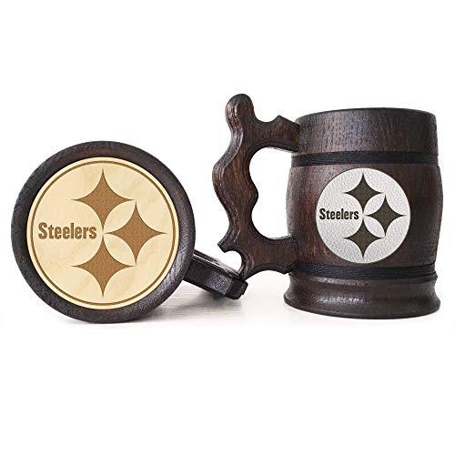 - Pittsburgh Steelers Beer Mug, American Football Wooden Beer Stein, Sport Gift, Personalized Beer Stein, Pittsburgh Steelers Tankard, Custom Gift for Men, Gift for Him