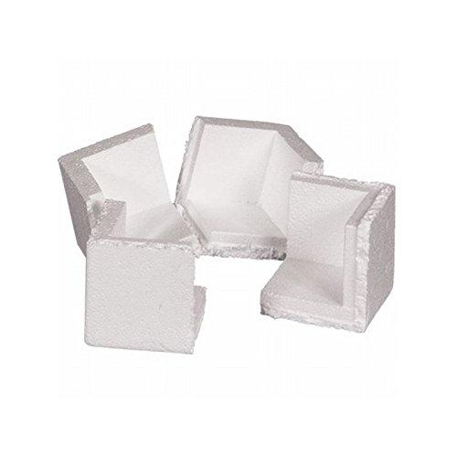 Box Packaging Foam Corner, 3'' x 3'' x 3'' - Case of 1,000 by Box Packaging