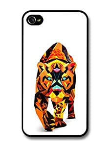 Abstract Walking Tiger Illustration case for iPhone 4 4S by runtopwell