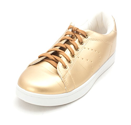 Chaussures À Bas Prix Brady Bas Haut Lace Up Fashion Sneakers Or