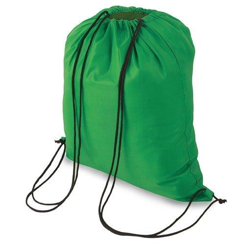 My Custom Style® Sacco borsa zaino a spalla VERDE in versione neutra non stampata, da cm 34x39,5, per palestra, mare, piscina , sport o tempo libero. Lo zainetto sportivo è in poliestere,con laccetti