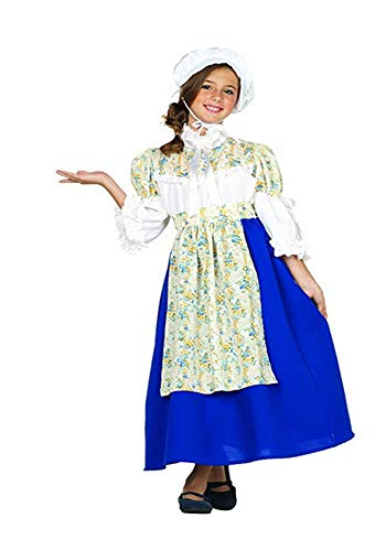 RG Costumes Colonial Beauty Costume, Blue/White/Yellow, Medium ()