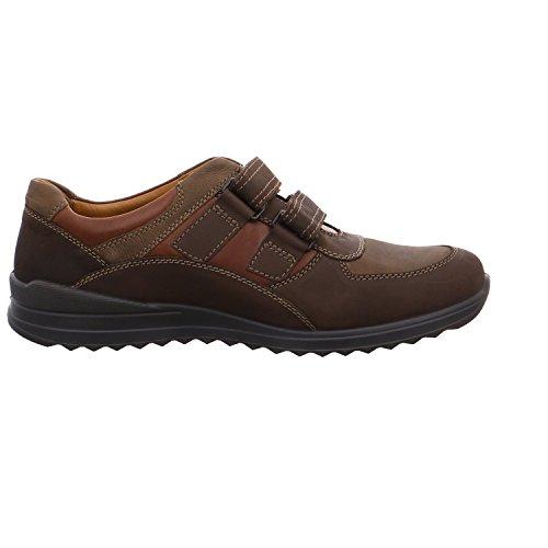 Zapatos de los hombres de velcro 41 42 43 44 45 46 47 marrón longitud Jomos negro