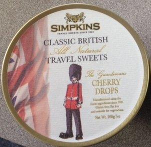 Simpkins Guardsman Cherry Drops Travel Sweets 7 oz x 3