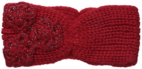 Betsey Johnson Women's Winter Bloom Headband with Lace Applique Detail, Red, One Size