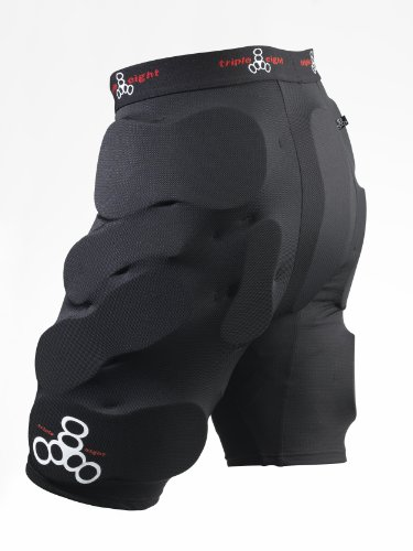 Triple Eight T8 Bumsaver (Black, Large) (Best Snowboard Protective Shorts)
