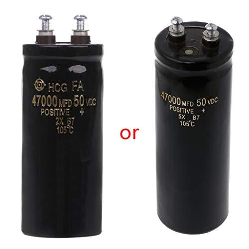 50V 47000UF/MFD Aluminum Screw Audio Filtering Electrolytic Capacitor 105℃