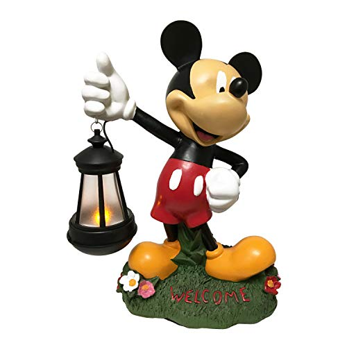 (The Galway Company Disney Mickey Mouse Outdoor Statue Solar LED Lighted Lantern. Classic Disney Collection, Hand-Painted. Large 12.5 Inches)