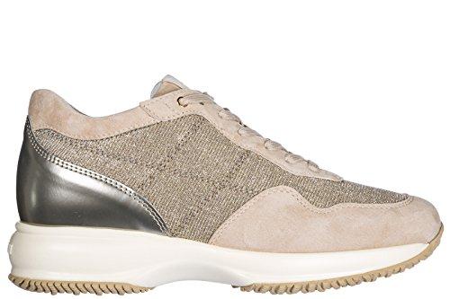 Hogan Kvinder Sko Sneakers Damer Ruskindssko Sneakers Interaktiv Beige LjdUUB