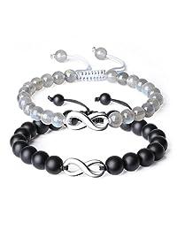 COAI Infinity Onyx Stone Relationship Couples Bracelets