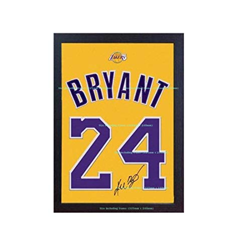 (S&E DESING Kobe Bryant LA Lakers NBA Signed Autograph Jersey T-Shirt Printed ON 100% Canvas Cotton)