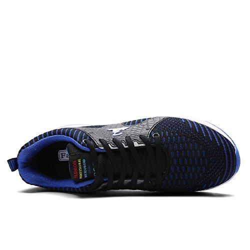 Respirant gold De Chaussures Pour Homme Coussin Course Fitness Léger Sneakers T D'air Bleu Sports Baskets vwgd4nqnx