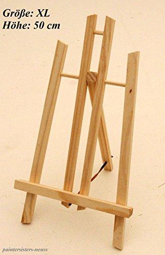 Tischstaffelei 50 cm hoch, Display-Staffelei, Deko-Ständer, Bildhalter, Sitzstaffelei