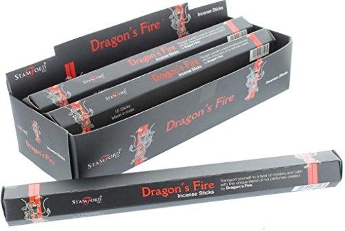Stamford Black Incense Sticks - Dragons Fire 37128