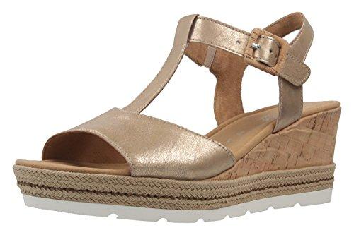 Gabor Comfort - Dames Wedge Sandals - Een Gouden Schoenen In Meer Dan Maten
