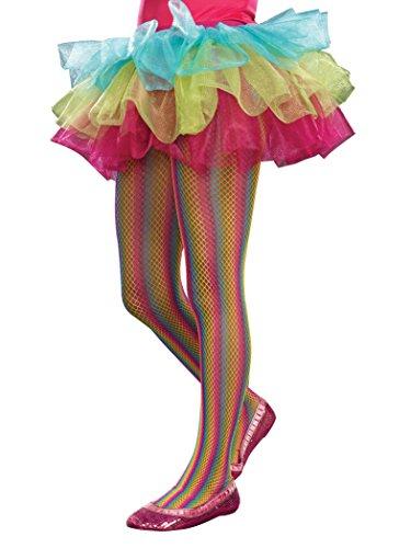SugarSugar Rainbow Fishnet Tights, (Rainbow Bright Fancy Dress)