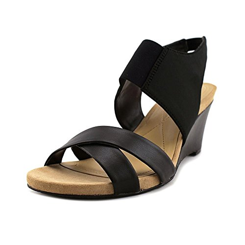 Tmonah Women Black US 7 Sandal Wedge Alfani w061qndw