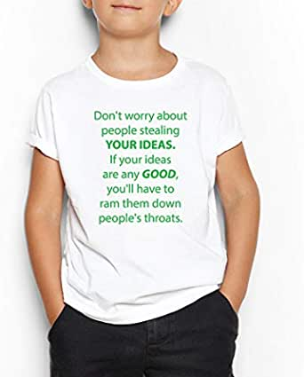 Stealing Your Ideas Round Neck T-Shirt For Kids 11-12 Years
