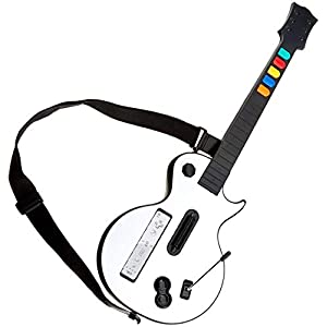 DOYO White Wii Guitar Hero Guitar – Wii Guitar Controller with Strap – Guitar Hero Wii Controller