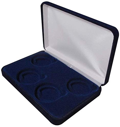 Velvet Display Box for 4 Large Coin Capsules/Challenge Coins