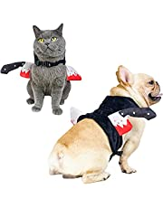 PAWCHIE Halloween Pet Costume& Dog Squeaky Toy Set, Pet Harness Bloody Knife Carrying Vest with Adjustable Snap for Small Medium Dog/Large Cat, Cosplay Accessories,Party Decoration