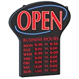 Centurion 7060330 24 x 3 in. LED Open Sign With Business Hours