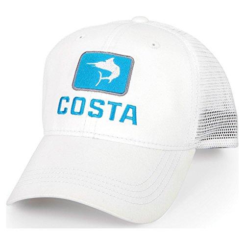 Costa Del Mar Marlin Trucker Hat, White, - Costa World By Sunglass