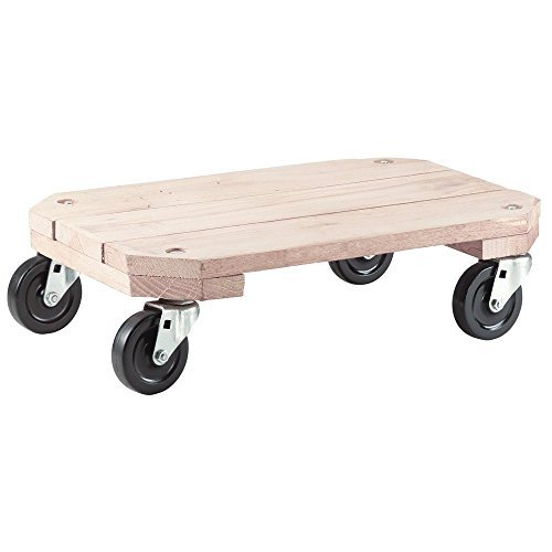 Wood Plant Caddy. Combine Heavy Duty Rolling Stand With Decorative Flower Pot Or Planter To Decorate Your Garden, Home, Patio, Deck & Poolside. This Wooden Wheeled Dolly Is For Outdoor & Indoor Decor by rm-ShepherdHardware