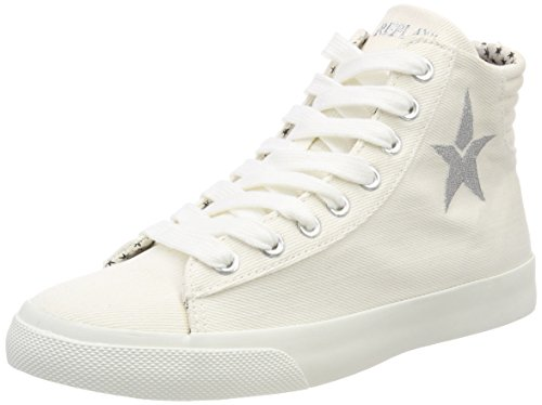 Off Femme Hautes Edna Wht Blanc Baskets Replay q1XnA